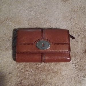 Fossil Cognac Leather Wallet